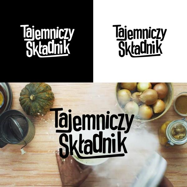 tajemniczy skladnik logo concept